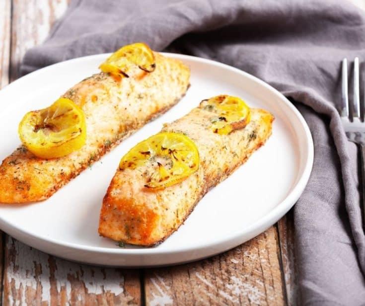 Lemon Dill Air Fryer Salmon