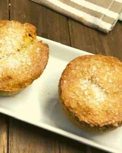 Air Fryer Maple Brown Sugar Oatmeal Muffins
