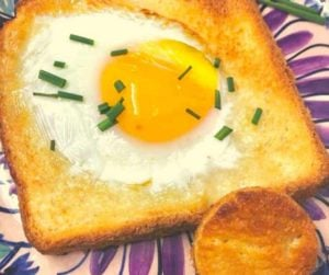 Air Fryer Eggs in A Basket