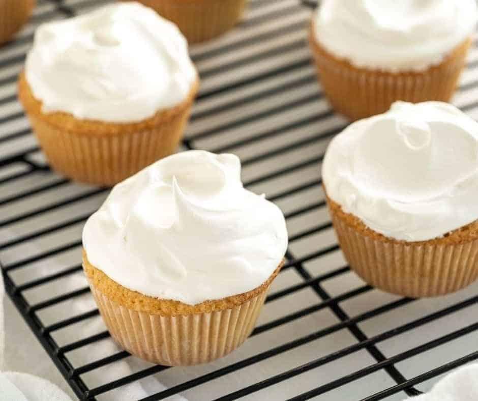 Air Fryer Vanilla Cupcakes
