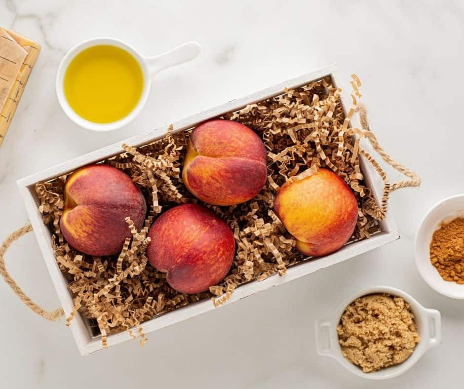 Ingredients For Air Fryer Grilled Peaches