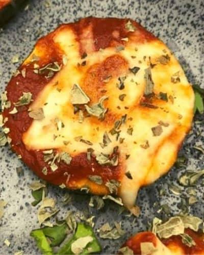Air Fryer Zucchini Pizza Bites