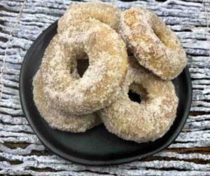 Air Fryer Cinnamon Sugar Banana Donuts