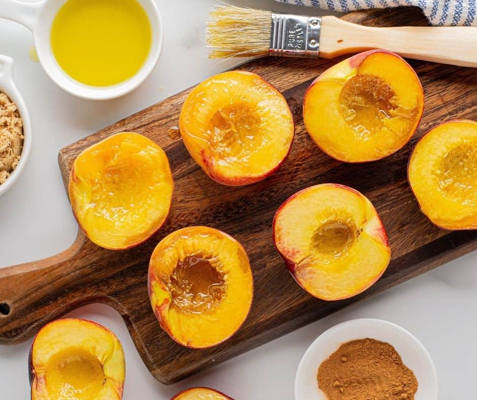 Grilled Peaches with Butter