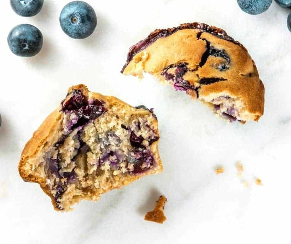 Air Fryer Blueberry Muffin For One