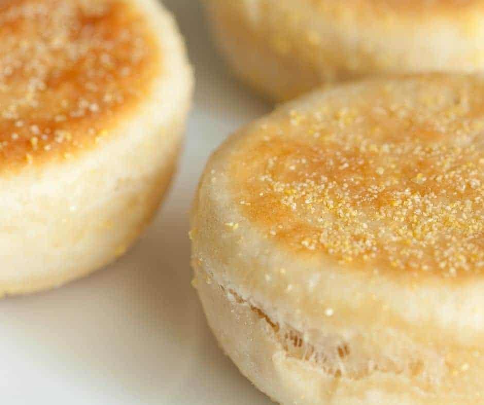 English Muffin on Kitchen Counter