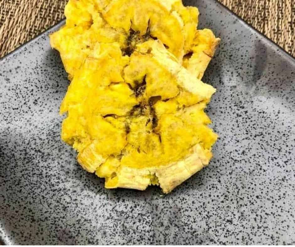 Air Fryer Tostones Fried Plantains