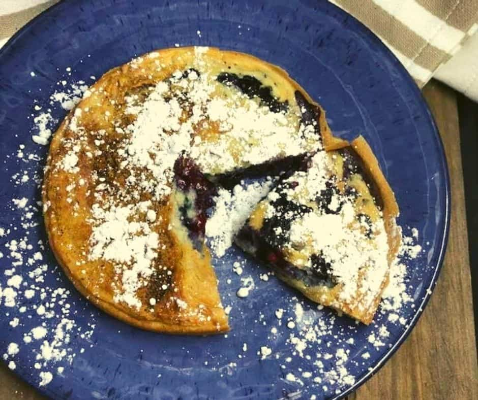 Air Fryer Blueberry Pancake Bake