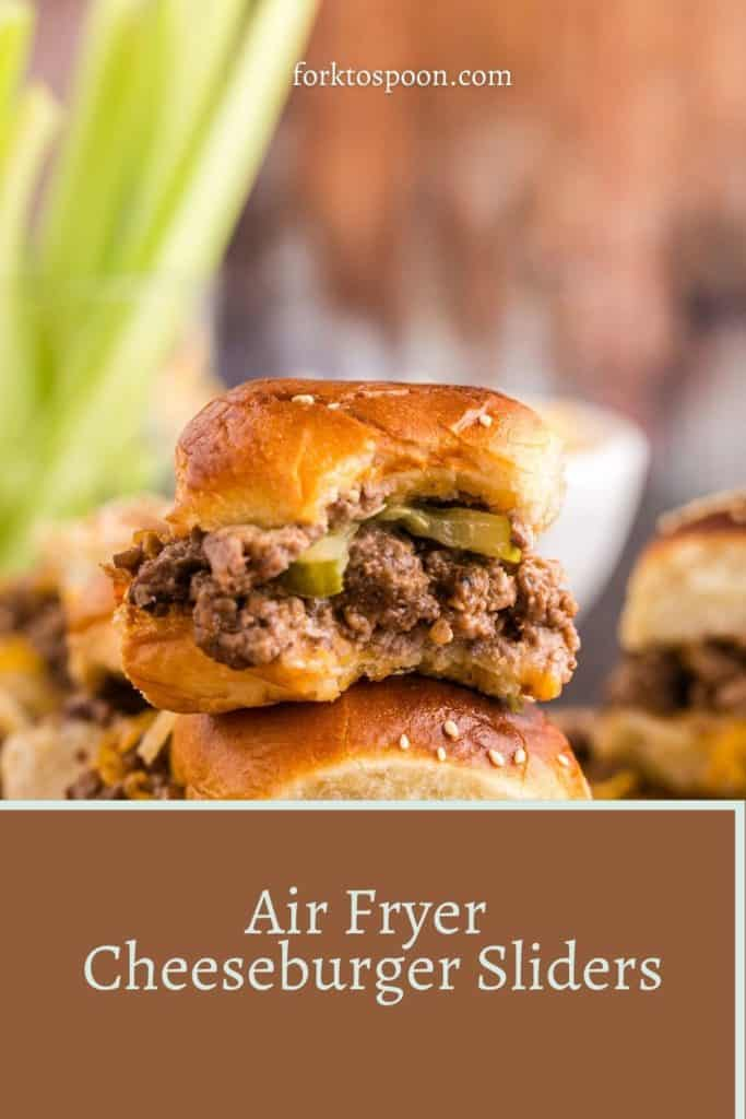 Air Fryer Cheeseburger Sliders