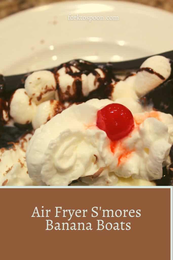 Air Fryer S'mores Banana Boats