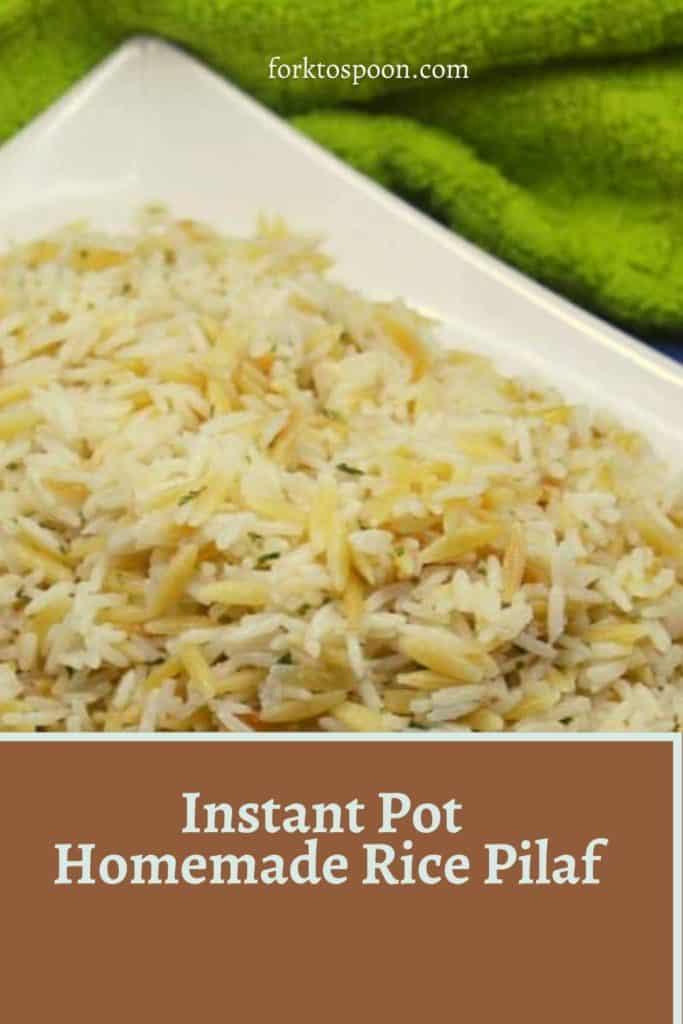 Instant Pot Homemade Rice Pilaf