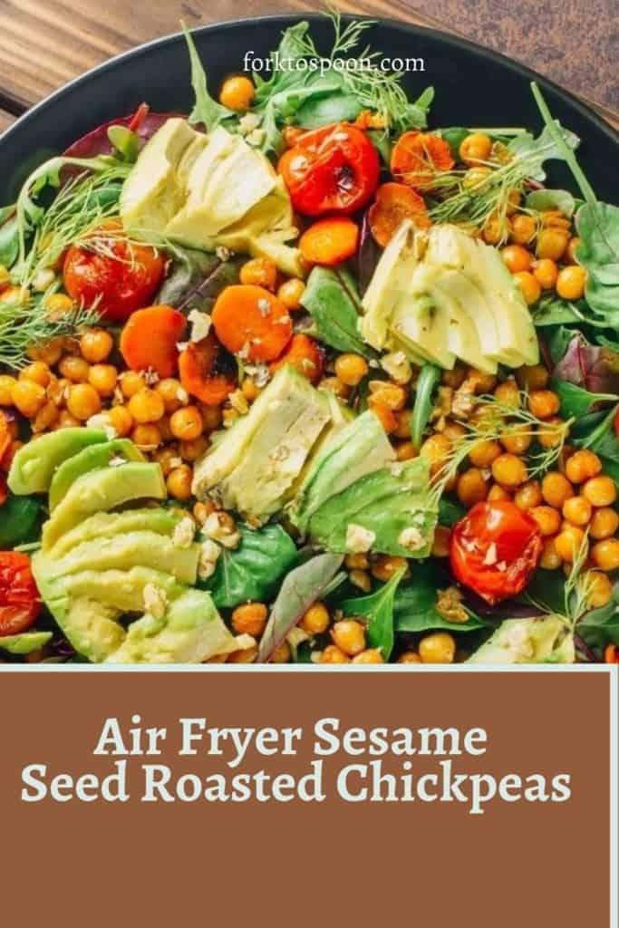 Air Fryer Sesame Seed Roasted Chickpeas