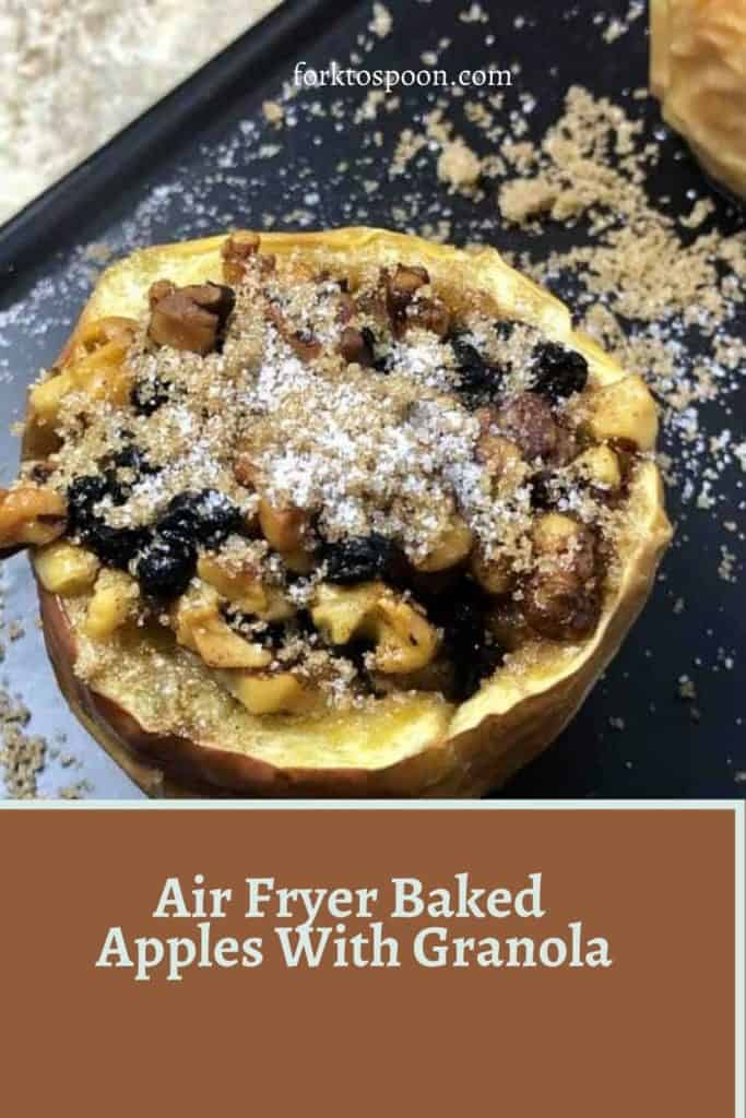 Air Fryer Baked Apples With Granola