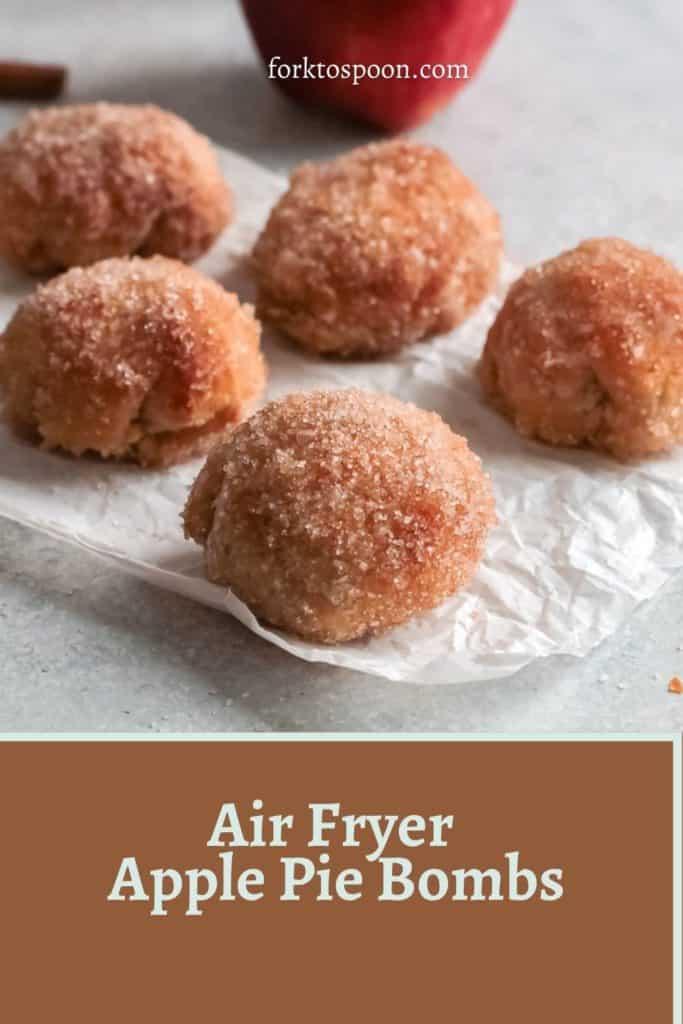 Air Fryer Apple Pie Bombs