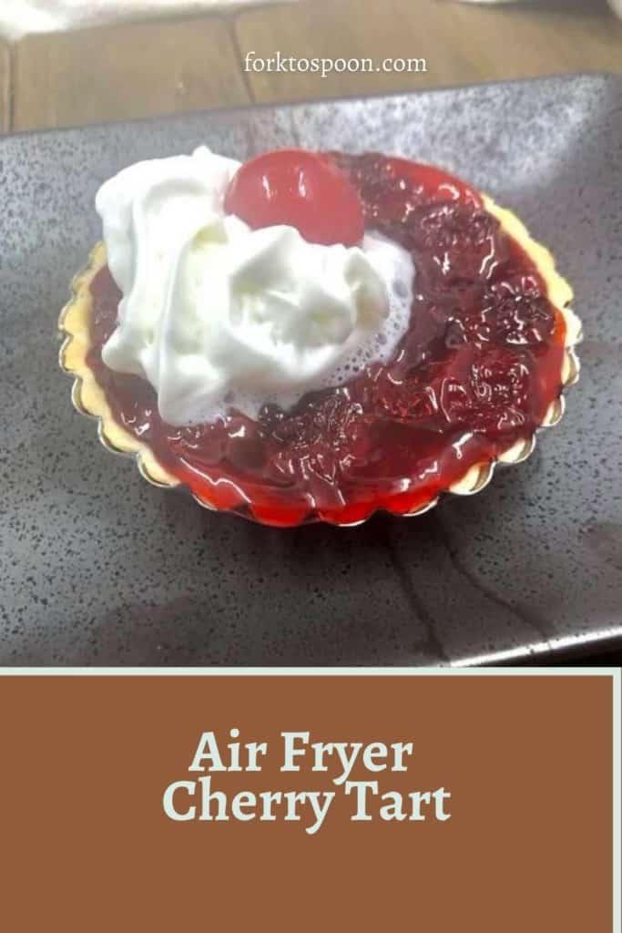 Air Fryer Cherry Tart
