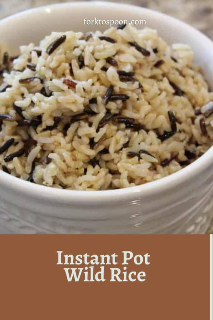 Instant Pot Wild Rice