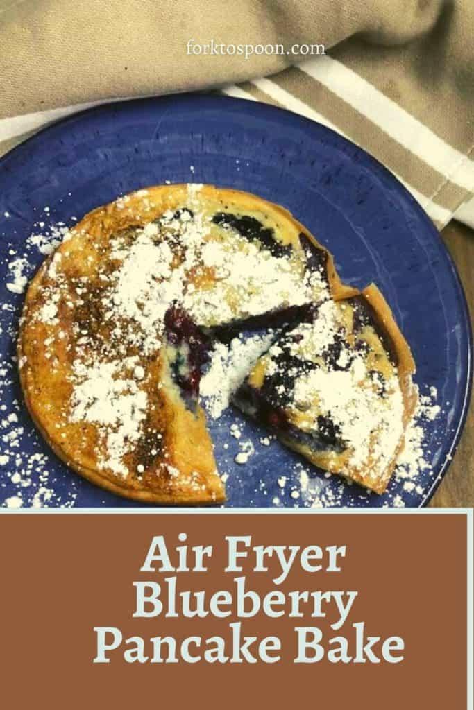 Air Fryer Breakfast Bake Blueberrry