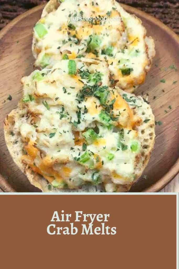 Air Fryer Crab Melts