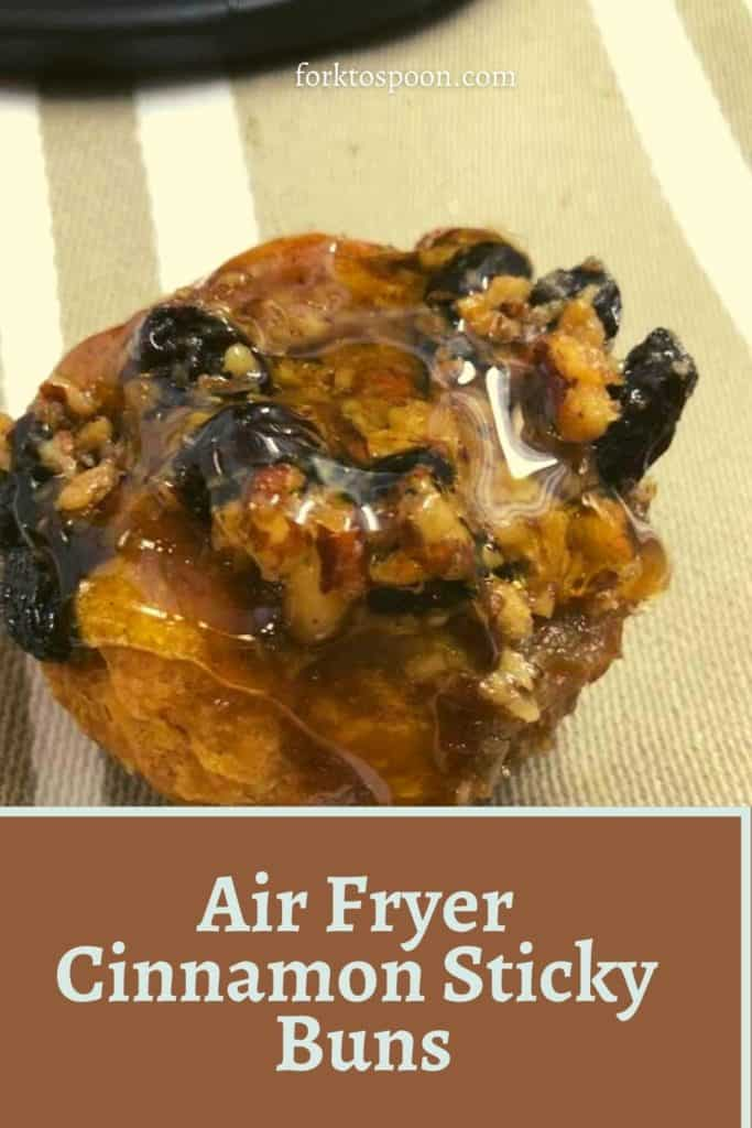 Air Fryer Cinnamon Sticky Buns