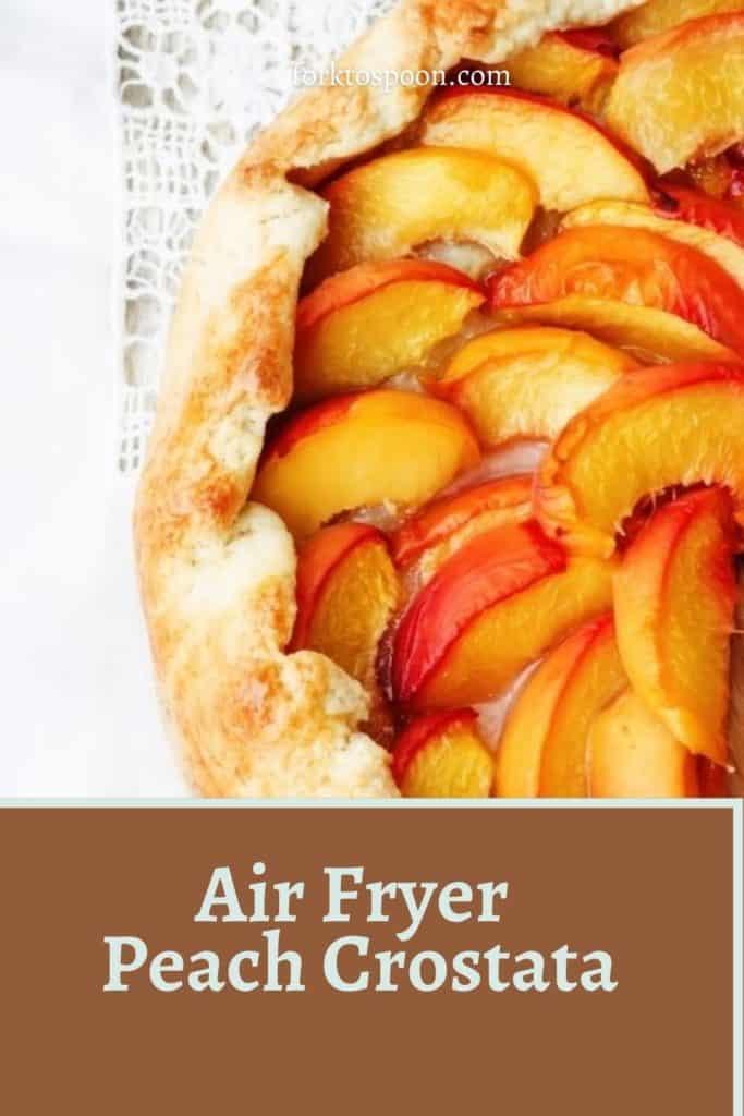 Air Fryer Peach Crostata