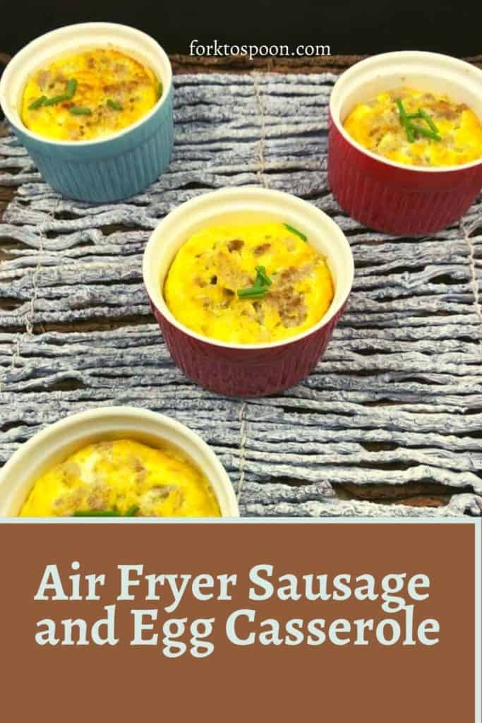 Air Fryer Sausage and Egg Casserole