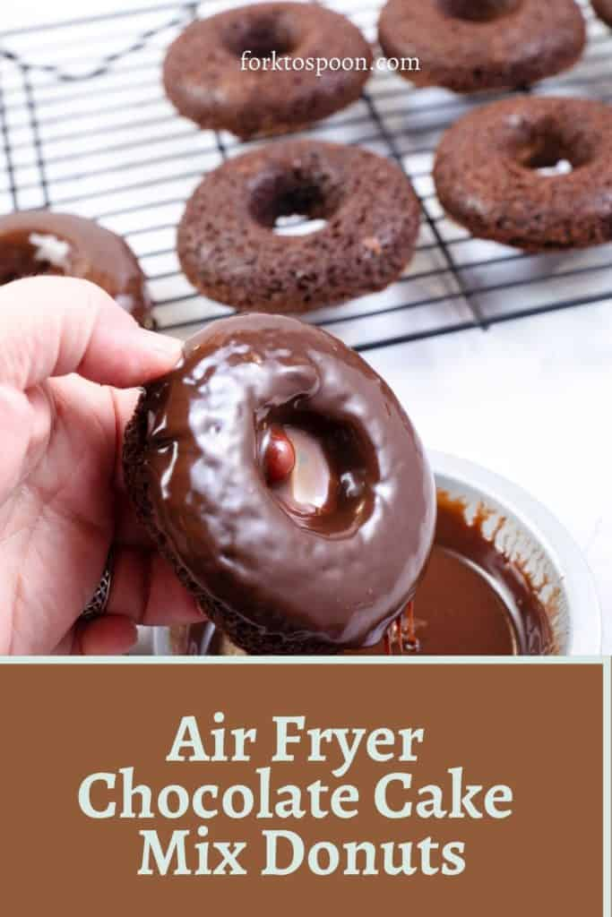 Air Fryer Chocolate Cake Mix Donuts