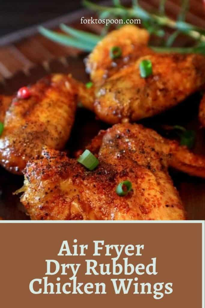 Air Fryer Dry Rubbed Chicken Wings
