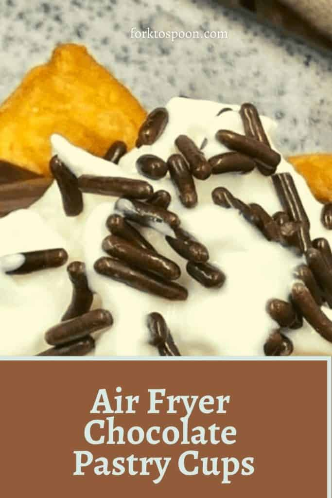 Air Fryer Chocolate Pastry Cups
