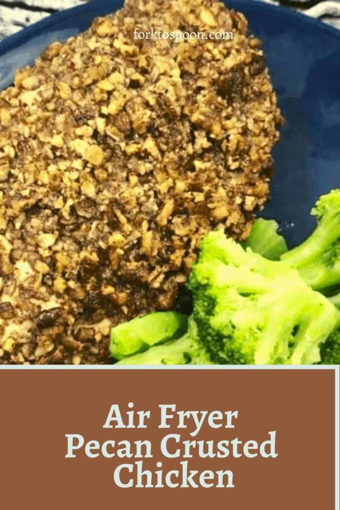 Air Fryer Pecan Crusted Chicken