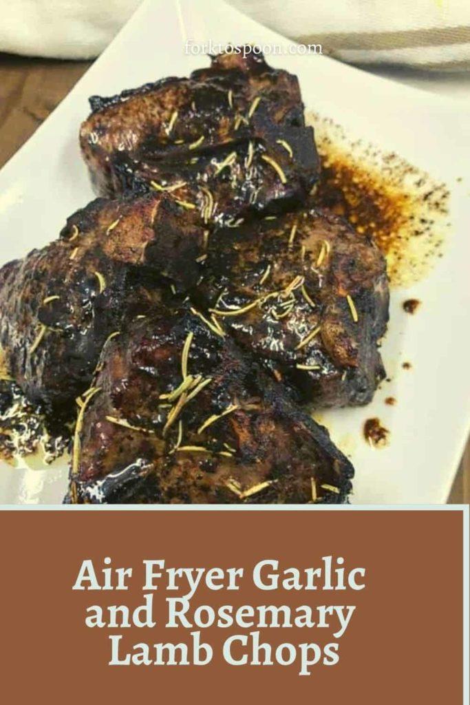 Air Fryer Garlic and Rosemary Lamb Chops