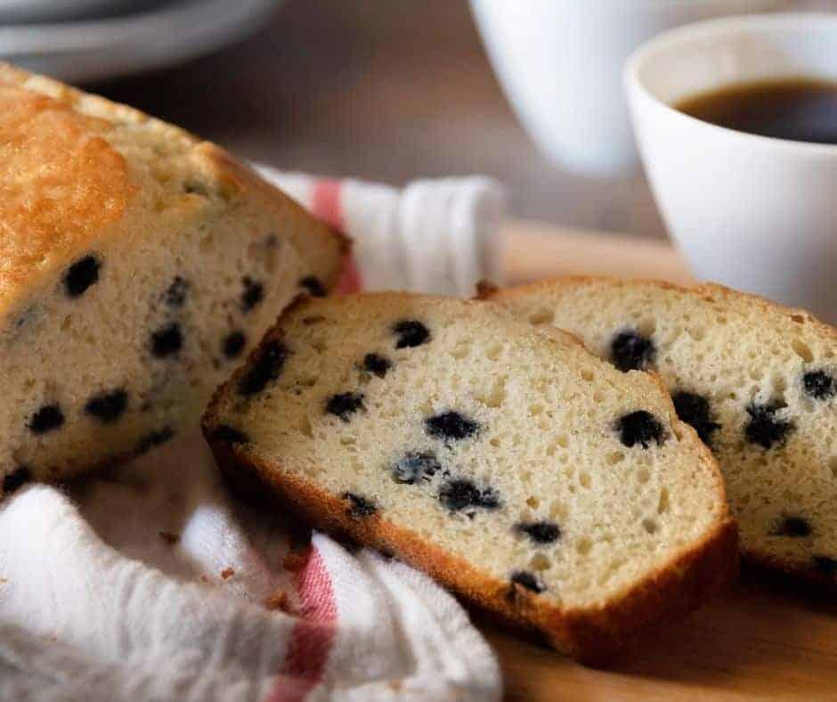 Air Fryer Blueberry Pound Cake
