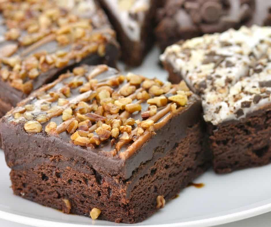 Air Fryer Chocolate Frosted Brownies