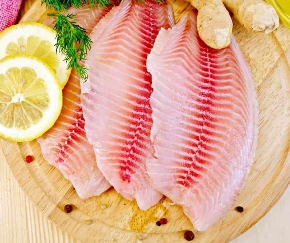 Ingredients Needed For Air Fryer Lemon and Herb Tilapia