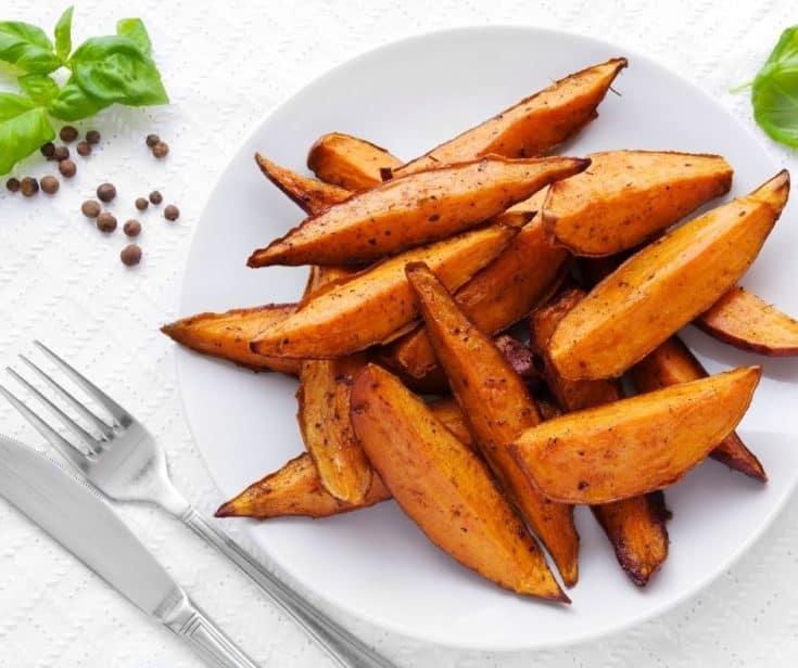 Air Fryer BBQ Sweet Potato Wedges