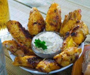 Air Fryer Honey Mustard Chicken Wings
