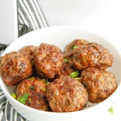 Air Fryer Beef Meatballs