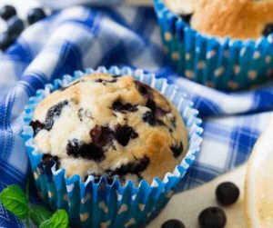 Air Fryer Blueberry Lemon Muffins