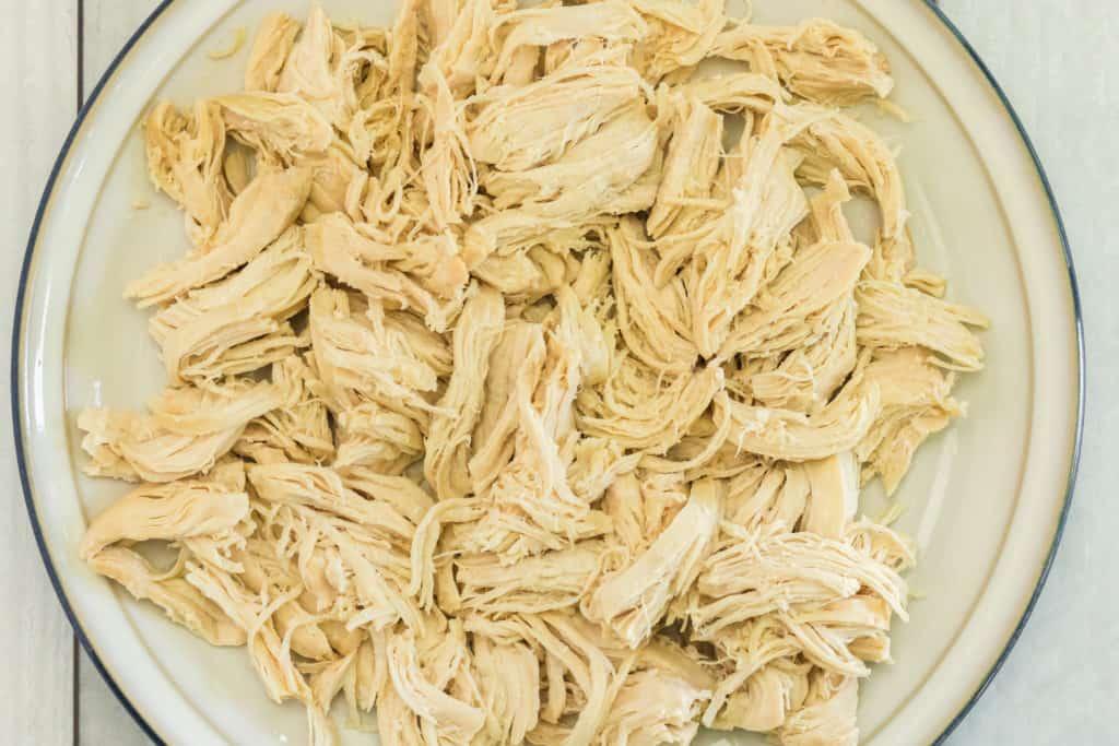 Shred Chicken in Bowl