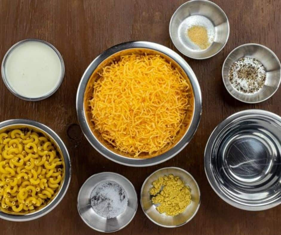 Ingredients Needed For Air Fryer Macaroni & Cheese