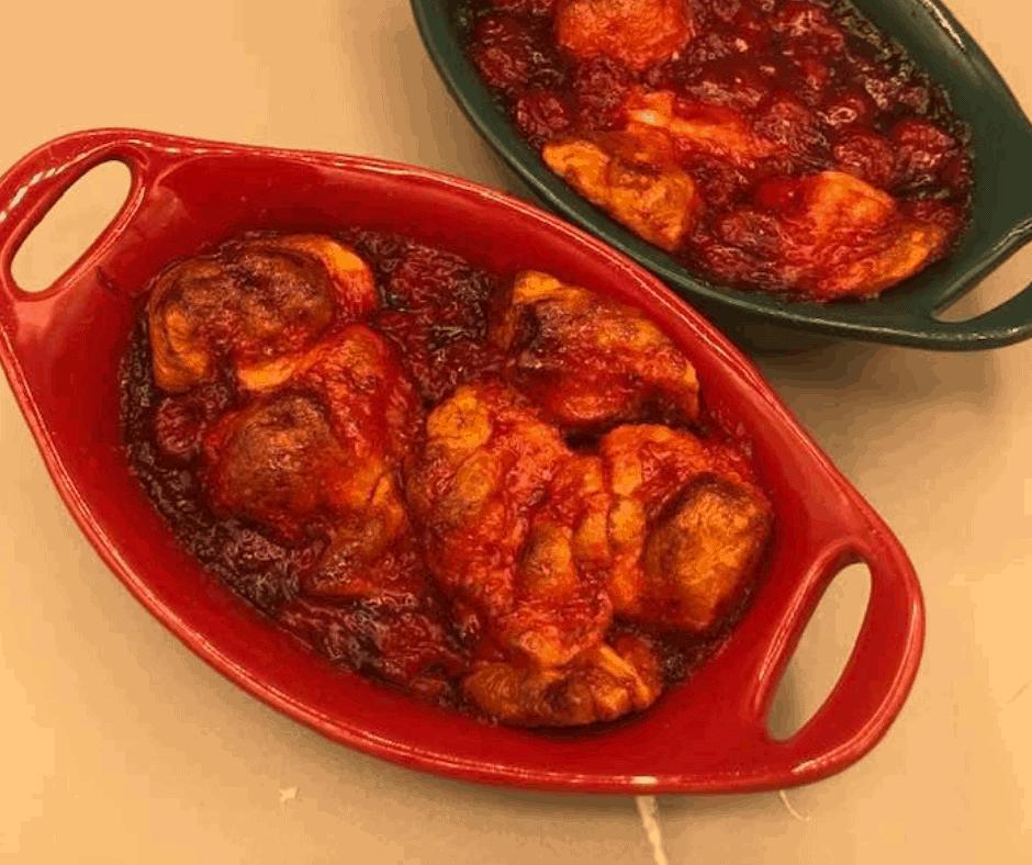 Air Fryer Cherry Dumplings