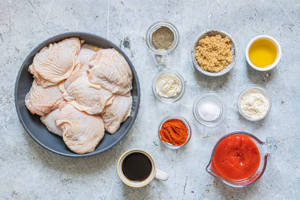 Ingredients Needed For Air Fryer BBQ Chicken Thighs