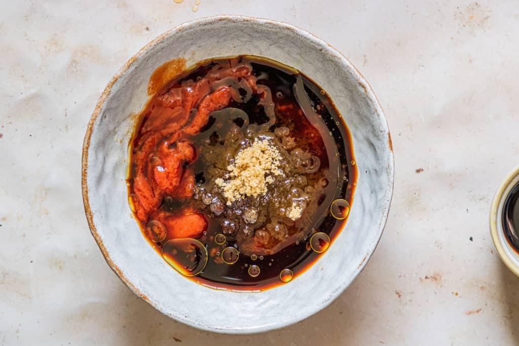 Air Fryer BBQ Chicken Thighs Sauce in Bowl