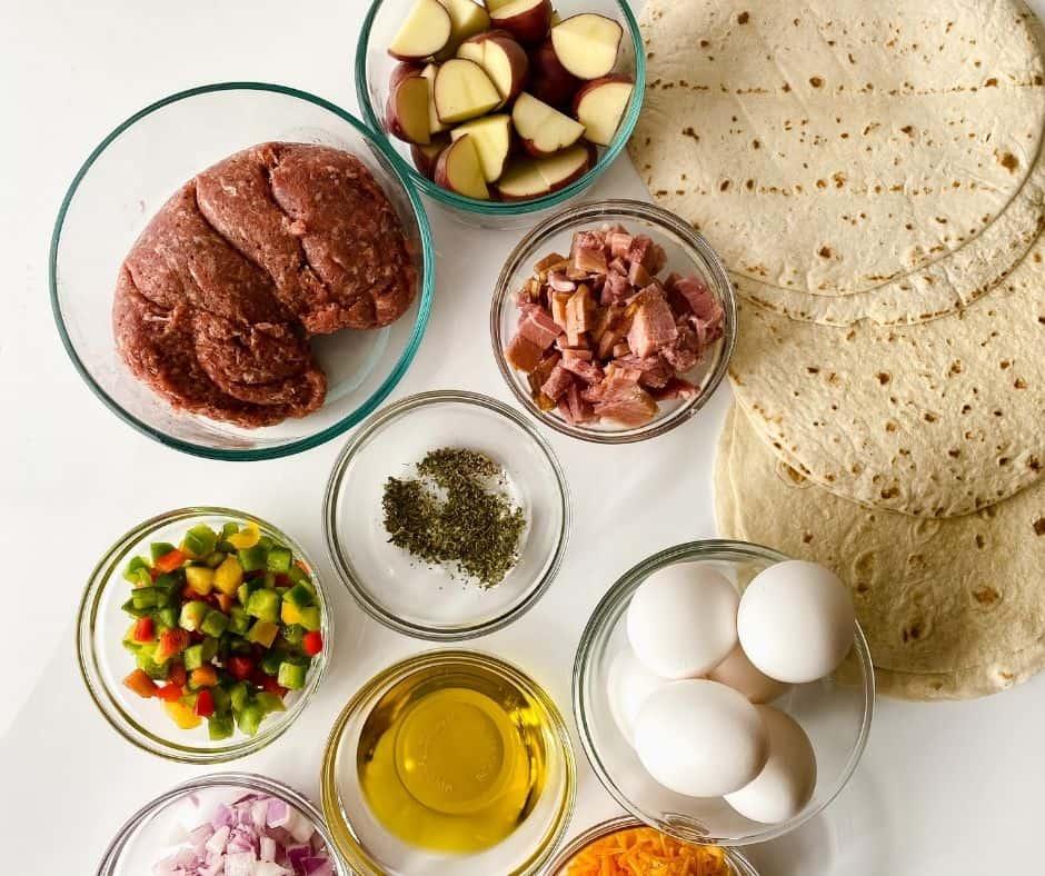 Ingredients In Air Fryer Loaded Breakfast Burrito