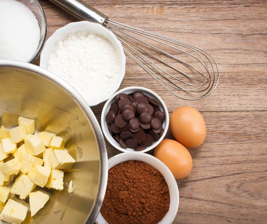 Ingredients Needed For Air Fryer Chocolate Frosted Brownies