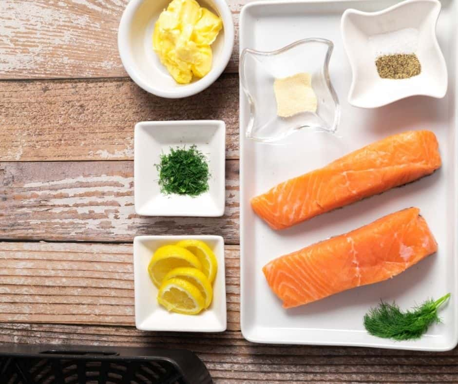 Ingredients Needed Lemon Dill Air Fryer Salmon