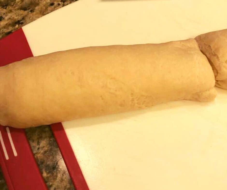 Cut French Bread in Half