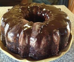 Air Fryer Homemade Chocolate Bundt Cake