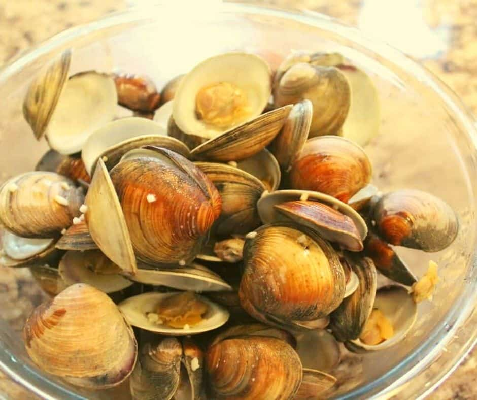 Instant Pot Clams in Bowl