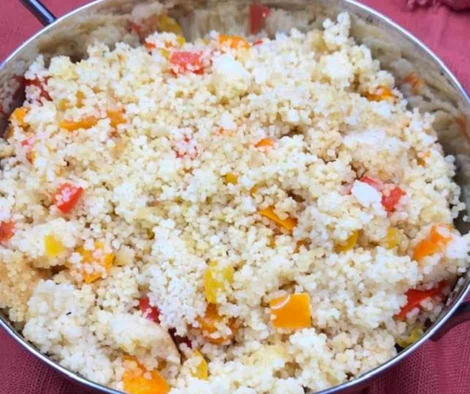 Instant Pot Sweet Bell Pepper Couscous  (Fiesta)