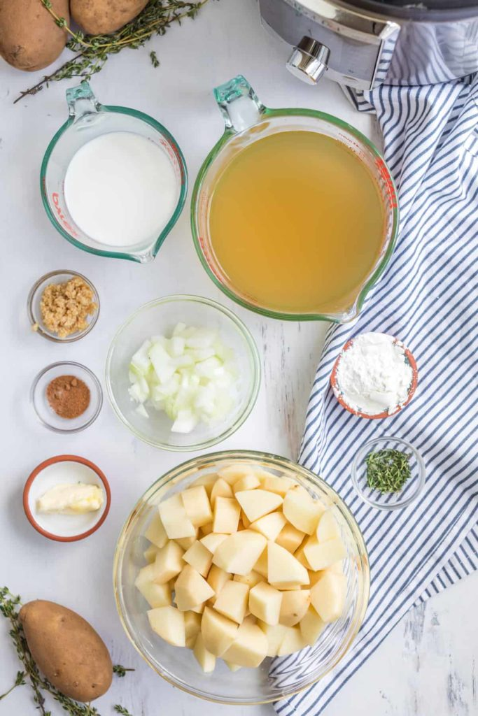 Ingredients Needed For Instant Pot Potato Soup